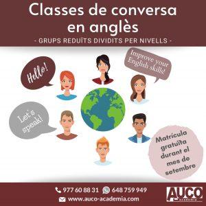 Classes de conversa en anglès